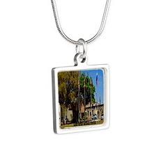 Sahib Shrine2.34x3.2 Silver Square Necklace