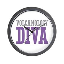 Volcanology DIVA Wall Clock