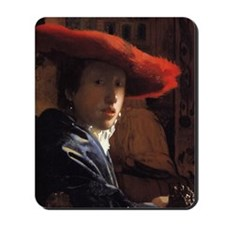 Girl with the Red Hat Mousepad