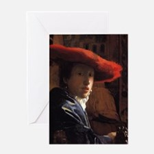 Girl with the Red Hat Greeting Card