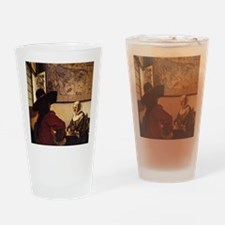 Officer and Laughing Girl Drinking Glass