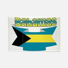 Bahamian flag ribbon Rectangle Magnet