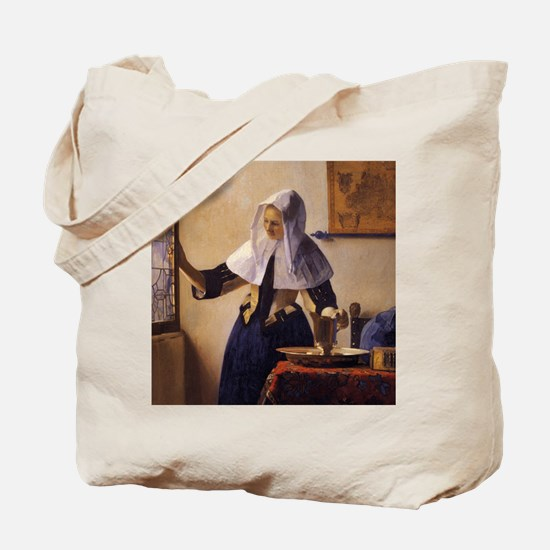 Young Woman with a Water Pitcher Tote Bag