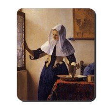 Young Woman with a Water Pitcher Mousepad