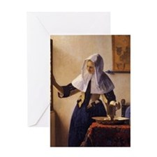 Young Woman with a Water Pitcher Greeting Card