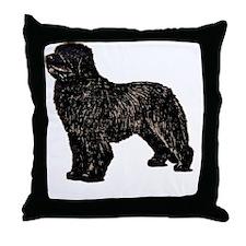 Newfoundland Dog Throw Pillow