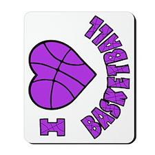 lavendar sideways, Love Basketball Mousepad
