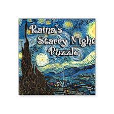 "Rainas Square Sticker 3"" x 3"""