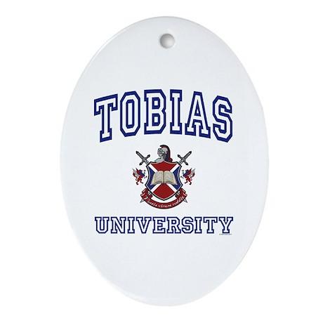 TOBIAS University Oval Ornament