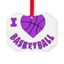 wh  lavendar, Love Basketball Ornament