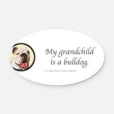 Cute English bulldog Oval Car Magnet