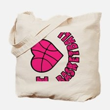 melon sideways, Love Basketball Tote Bag