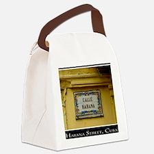 CUBACalleHabanaCanvasChazExt Canvas Lunch Bag