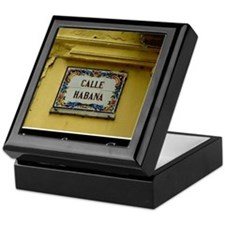 CUBACalleHabanaCanvasChazExt Keepsake Box