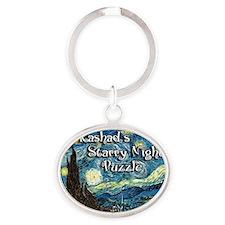 Rashads Oval Keychain