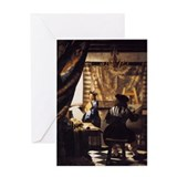 Jan vermeer Greeting Cards
