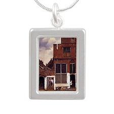 The Little Street Silver Portrait Necklace