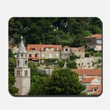 CAVTAT. Harbor View with the Monastery o Mousepad