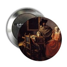 """The Glass of Wine 2.25"""" Button"""