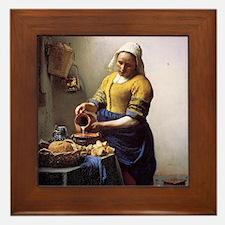 The Milkmaid Framed Tile