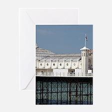 Brighton Pier (c. 1899), and beach c Greeting Card