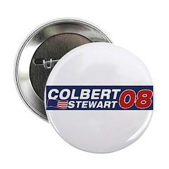 Colbert / Stewart 08 Button