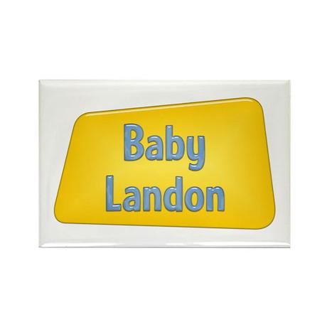 Baby Landon Rectangle Magnet