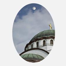 Belgrade. Sveti Sava Orthodox Church Oval Ornament
