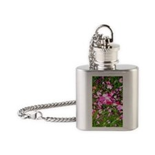 persian roses scattered v Flask Necklace