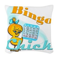 Bingo Chick Woven Throw Pillow