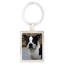 Boston Terrier 2 Portrait Keychain