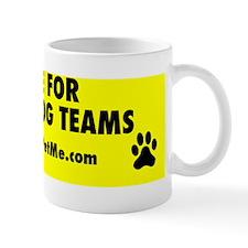 I BRAKE FOR SERVICE DOG TEAMS (yellow) Mug