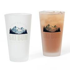 ski bum drk Drinking Glass