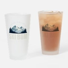 ski bum drk Drinking Glass