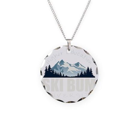 ski bum drk Necklace Circle Charm