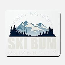 ski bum drk Mousepad
