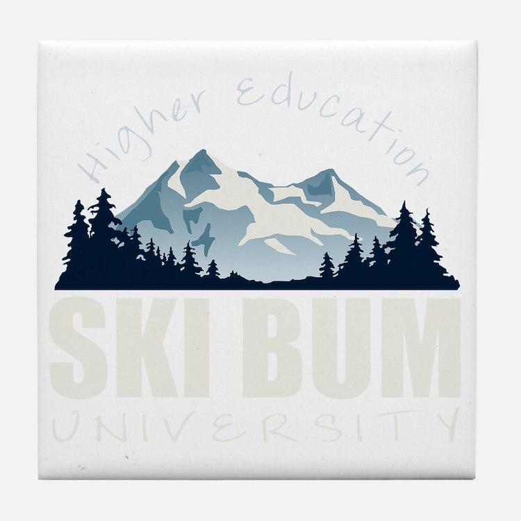 ski bum drk Tile Coaster