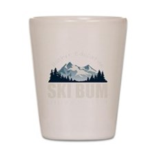 ski bum drk Shot Glass