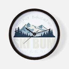 ski bum drk Wall Clock