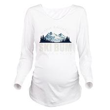 ski bum drk Long Sleeve Maternity T-Shirt