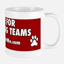 I BRAKE FOR SERVICE DOG TEAMS (red) Mug