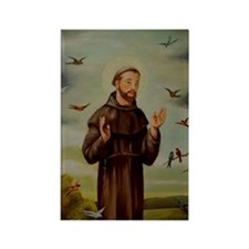 St.Francis-lg Rectangle Magnet