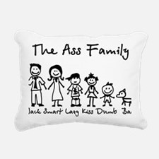 ass family Rectangular Canvas Pillow