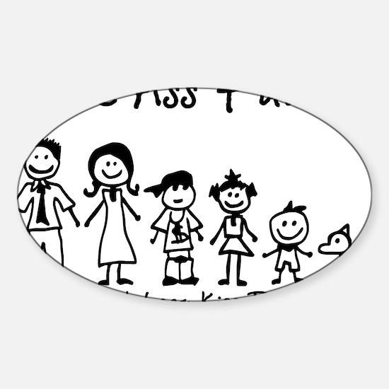 ass family Sticker (Oval)