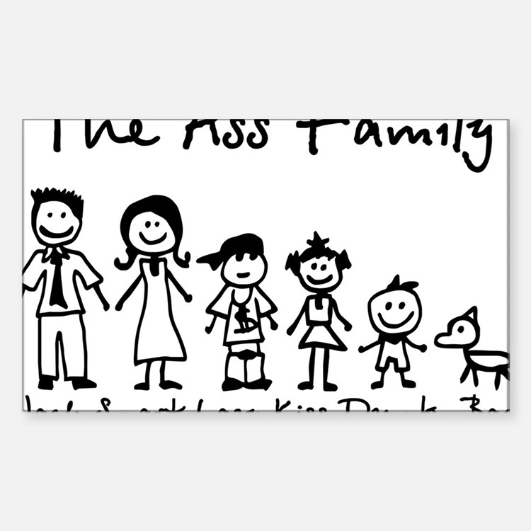 ass family Decal