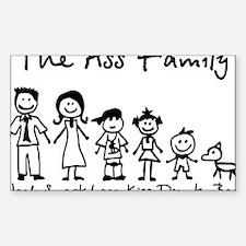 ass family Sticker (Rectangle)