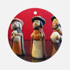 Three_Wise_Men Round Ornament