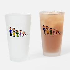 ass family Drinking Glass