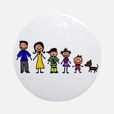 ass family Round Ornament