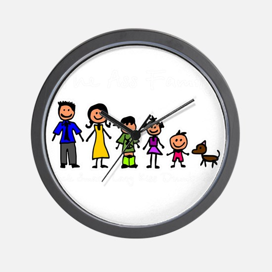 ass family Wall Clock